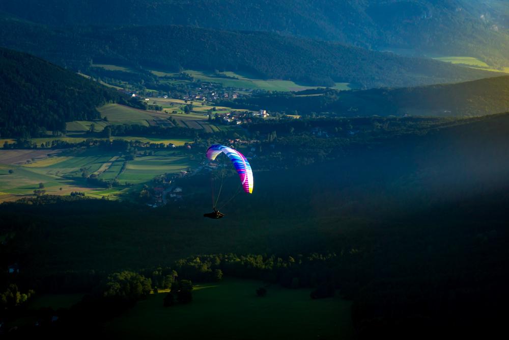 Bergsportfotografie Paragleiten Österreich Martin Lifka Photography